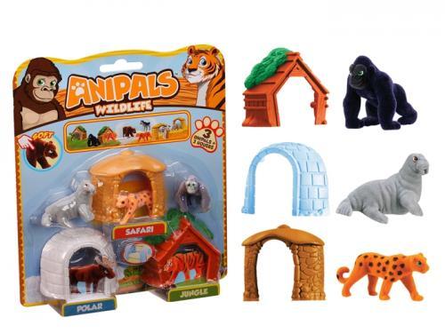 Set 3 figurine si 3 casute - Jaguar - Jucarii copilasi - Figurine pop