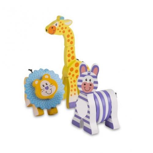 Set 3 jucarii pentru motricitate Safari - Melissa & Doug - Jucarii copilasi -