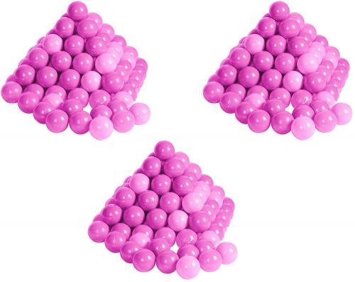 Set 300 bile colorate Soft Pink - Jucarii copilasi -