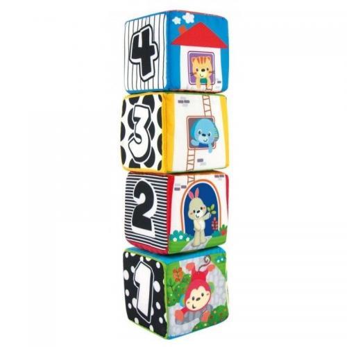 Set 4 cuburi senzoriale moi Smily Play - Jucarii bebelusi -