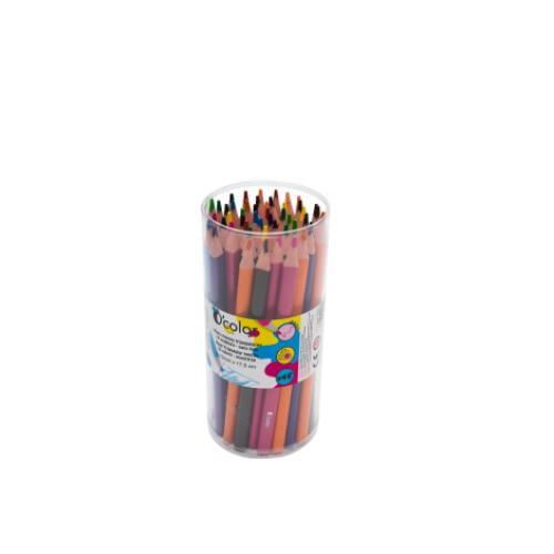 Set 48 creioane colorate triunghiulare maxi mina 4 mm - Jucarii copilasi - Arta indemanare
