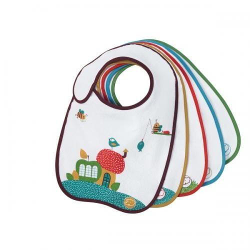 Set 5 Bavete Bumbac/plastic S1/2 Bebe Confort - Hrana bebelusi - Accesorii alimentare