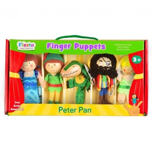 Set 5 Marionete pentru deget Peter Pan Fiesta Crafts FCT-2377 - Papusi ieftine -