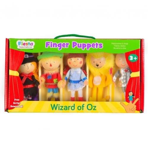 Set 5 Marionete pentru deget Vrajitorul din Oz Fiesta Crafts FCT-2379 - Papusi ieftine -