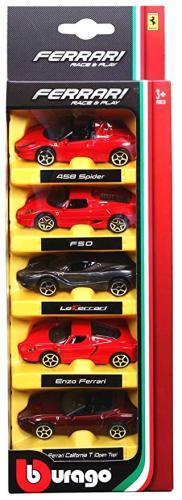 Set 5 masini Ferrari - scara 1:64 - Jucarii copilasi - Avioane jucarie