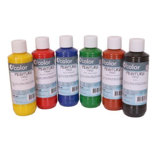 Set 6 culori pentru pictura pe materiale textile - Jucarii bebelusi -