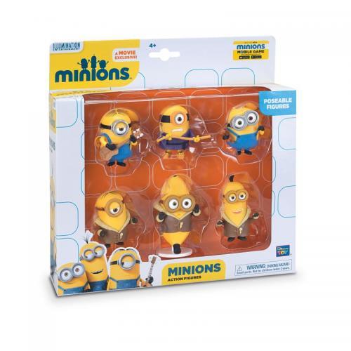 Set 6 minifigurine cu brate articulate - Jucarii copilasi - Figurine pop