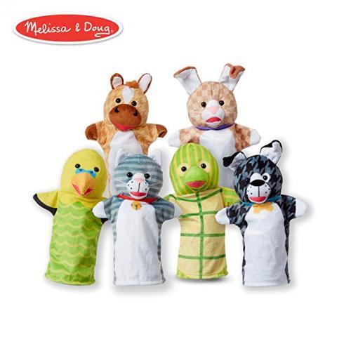Set 6 papusi de mana Animale de companie - Melissa & Doug - Papusi ieftine -