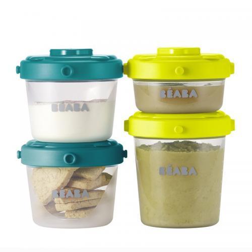 Set 6 recipiente ermetice pentru hrana (2X60ml - 4X120ml) - Hrana bebelusi - Accesorii alimentare
