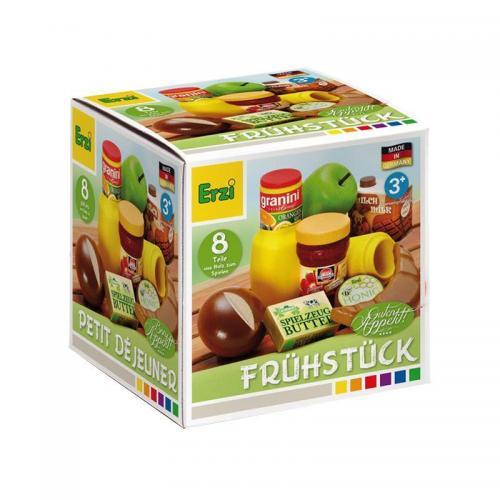 Set 8 alimente din lemn Mic dejun - 3 ani+ - Erzi - Jucarii copilasi - Jucarii educative bebe