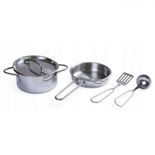 Set accesorii bucatarie din metal ecotoys 4258 - Jucarii copilasi -