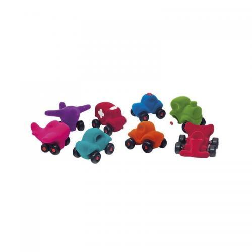 Set asortat 8 vehicule cauciuc natural M1 - Rubbabu - Jocuri pentru copii - Board games