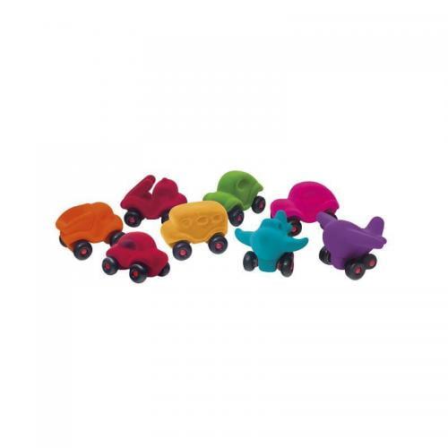 Set asortat 8 vehicule cauciuc natural M2 - Rubbabu - Jocuri pentru copii - Board games
