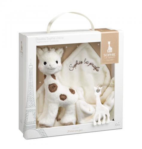 Set Cadou Girafa Sophie Cherie Si Batistuta Comforter - Jucarii bebelusi -