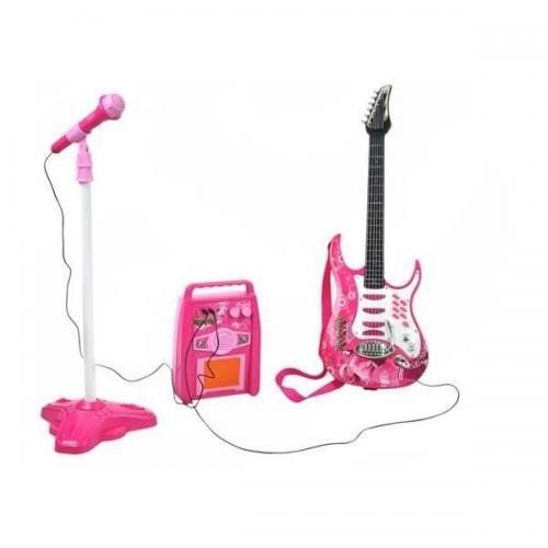 Set chitara - amplificator si microfon Iso Trade MY17462 - Jucarii bebelusi - Jucarie muzicala