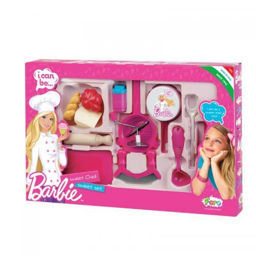 Set Complet Ustensile Bucatarie Barbie 2714 Faro - Jucarii copilasi -