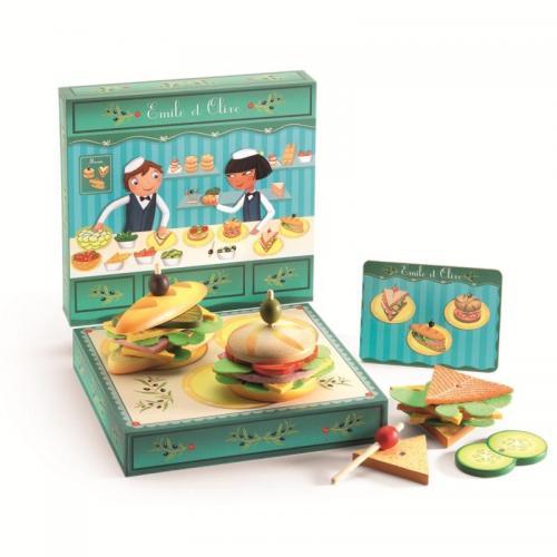 Set confectionat sandvisuri copii djeco - Jucarii copilasi -