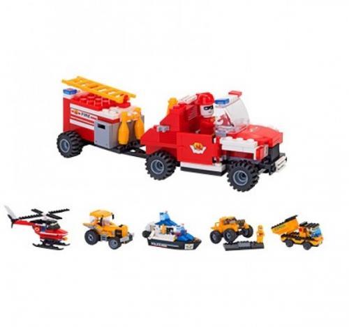 Set Constructie 2 Vehicule pentru Copii GLOBO CUBIX - Jucarii exterior -