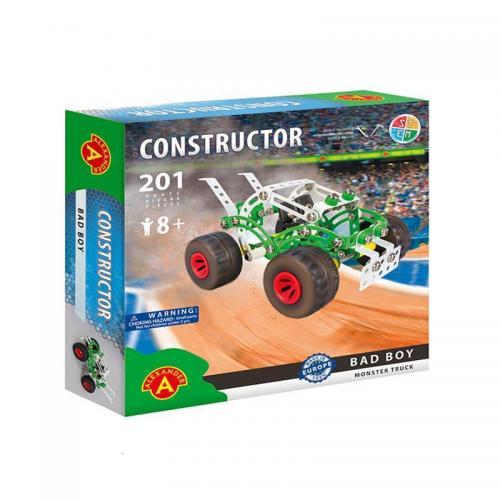 Set constructie 201 piese metalice Constructor-Bad Boy Monster Truck - +8 ani Alexander - Jucarii copilasi - Jucarii de constructie