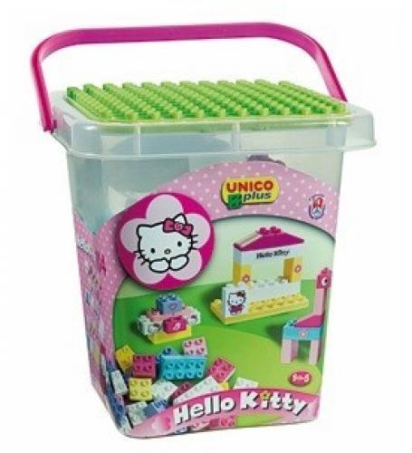 Set Constructie Unico Plus Hello Kitty Galetusa Cu Placa De Montat 104 Piese - Jucarii copilasi - Jucarii de constructie