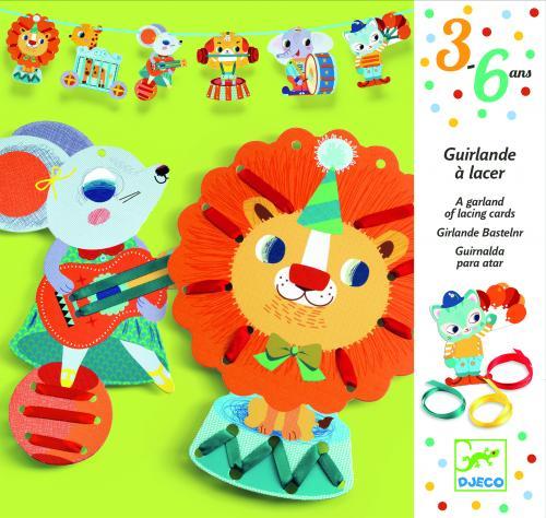 Set creativ djeco ghirlanda cu animale - Jucarii copilasi - Toys creative