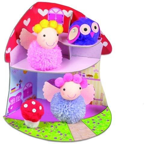 Set creativ - Fairy Pompom House - Jucarii copilasi - Arta indemanare