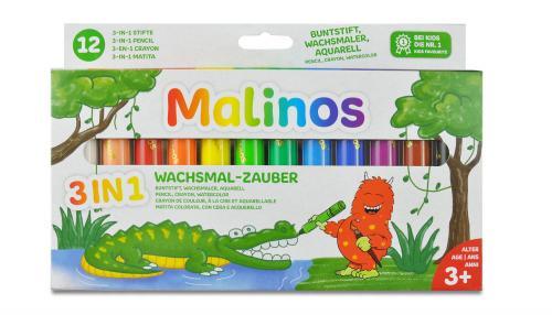 Set creioane retractabile - 12 culori - Rechizite - Pictura si desen
