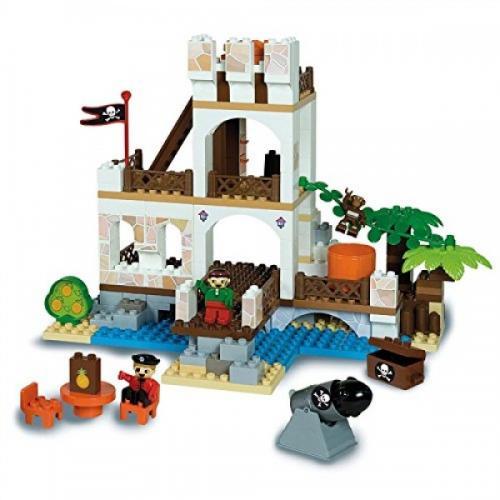 Set cuburi constructie Insula cu Pirati Unico - Jucarii copilasi - Jucarii de constructie