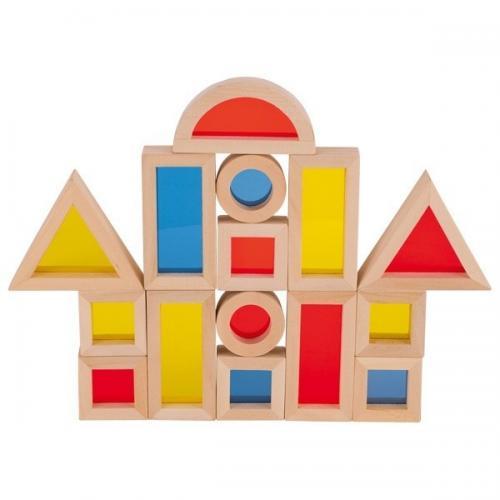 Set cuburi de construit cu ferestre - Jucarii bebelusi -