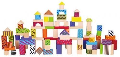 Set De 100 De Cuburi Din Lemn - Jucarii copilasi - Jucarii educative bebe