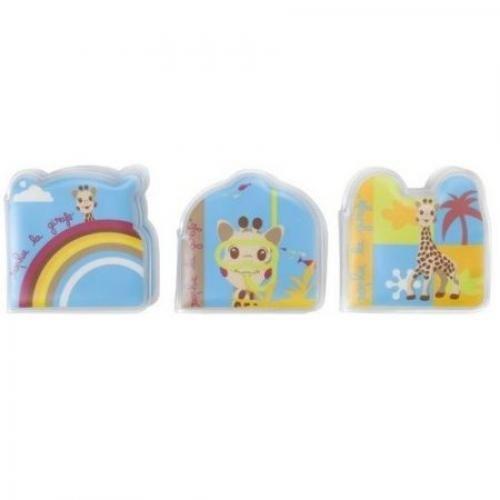Set de 3 carti pentru baie Girafa Sophie - Jucarii bebelusi - Jucarii baita