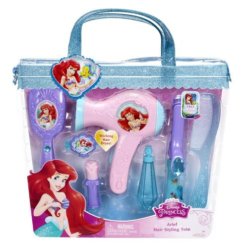 Set de coafura Printese Disney cu uscator de par functional Ariel - Jucarii copilasi -