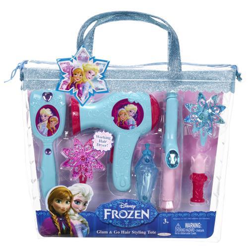 Set de coafura Printese Disney cu uscator de par functional Frozen - Jucarii copilasi -