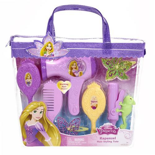 Set de coafura Printese Disney cu uscator de par functional Rapunzel - Jucarii copilasi -