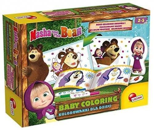 Set de colorat - O zi cu Masha si Ursul - Rechizite - Pictura si desen