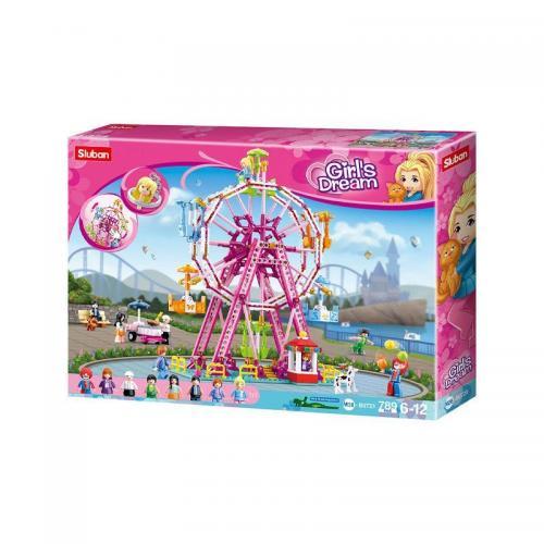 Set de constructie - Girls Dream Sky Wheel - 789 piese - Sluban - Jucarii copilasi - Jucarii de constructie
