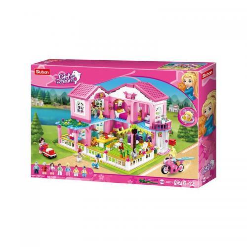 Set de constructie - Girls Dream Vila - 896 piese - Sluban - Jucarii copilasi - Jucarii de constructie