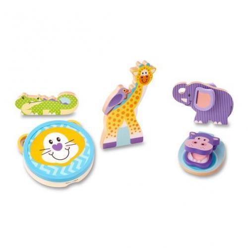 Set de instrumente muzicale Safari - Melissa & Doug - Jucarii copilasi -