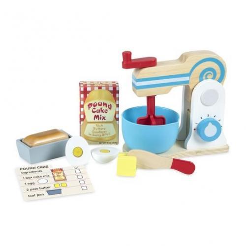 Set de joaca din lemn Mixer pentru prajituri - Melissa & Doug - Jucarii copilasi -