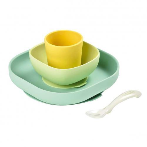 Set de masa silicon 4 piese galben - Hrana bebelusi - Accesorii alimentare