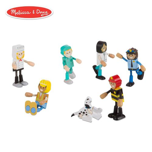 Set figurine flexibile Meserii - Melissa & Doug - Jucarii copilasi - Figurine pop