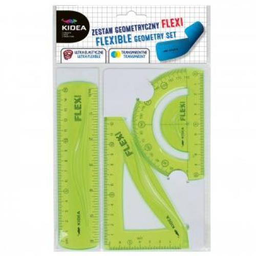 Set flexi geometrie 3 elemente pentru scoala Kidea - Rechizite - Creione carioci