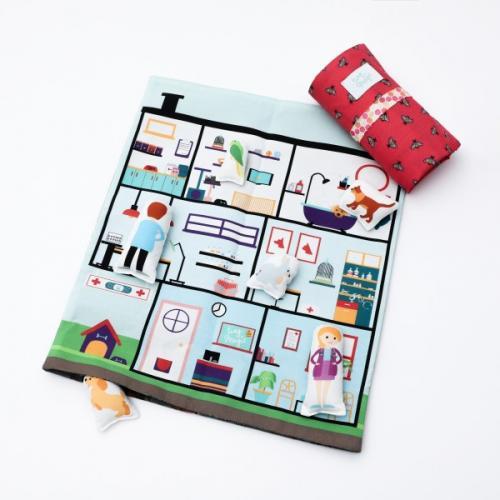Set joaca portabil Tiny Magic Clinica veterinara cu 5 personaje incluse - Jucarii copilasi - Arta indemanare