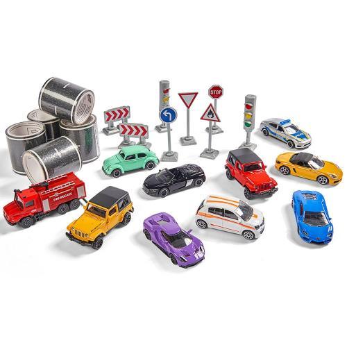 Set Majorette Mega box 10 masinute si accesorii - Jucarii copilasi - Avioane jucarie