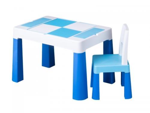 Set masuta cu scaun Tega Lego Multifun Albastru - Camera bebelusului - Mobilier bebe