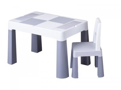 Set masuta cu scaun Tega Lego Multifun Gri - Camera bebelusului - Mobilier bebe