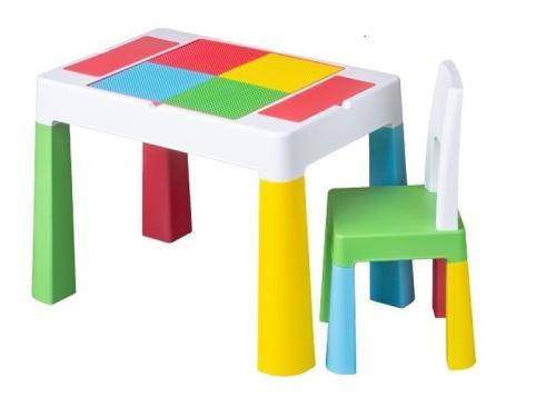 Set masuta cu scaun Tega Lego Multifun Multicolor - Camera bebelusului - Mobilier bebe