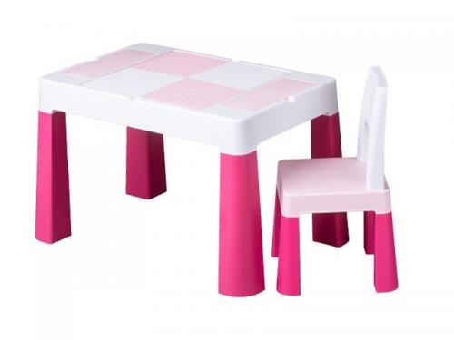 Set masuta cu scaun Tega Lego Multifun Roz - Camera bebelusului - Mobilier bebe