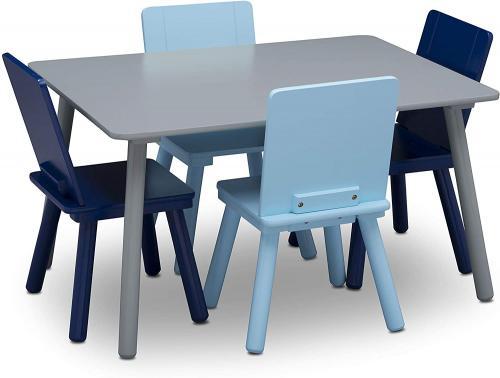 Set masuta si 4 scaunele Grey/Blue - Camera bebelusului - Mobilier bebe
