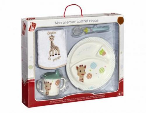 Set Pentru Masa Girafa Sophie Baloane Cutie Cadou - Hrana bebelusi - Accesorii alimentare